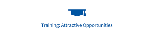 "Ein Symbol mit dem Text ""Training: attractive opportunities"""